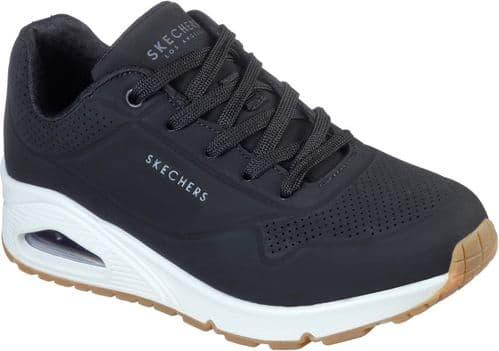 Skechers Uno Stand On Air Ladies Sports Black